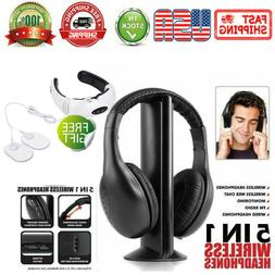 5 in 1 Wireless Headphones Headsets for FM Radio Mp3 Mp4 TV