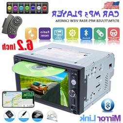 """6.2"""" 2Din Touch Screen Car Stereo MP5 DVD CD Player Radio Mi"""