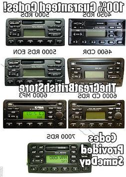 All Codes For Ford EON RDS Transit Radio Cassette Cd Player