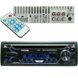 Gravity 1 Din Car Stereo, Bluetooth CD Player USB, AUX, AM/F