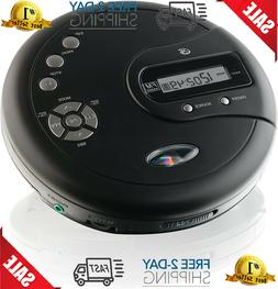 GPX PC332B Portable CD Player with Anti-Skip Protection, FM