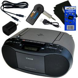 Sony Portable CD Radio Cassette Player Boombox + Wireless Bl