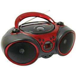Top-loading Portable Stereo CD Player with AM/FM Telescopic